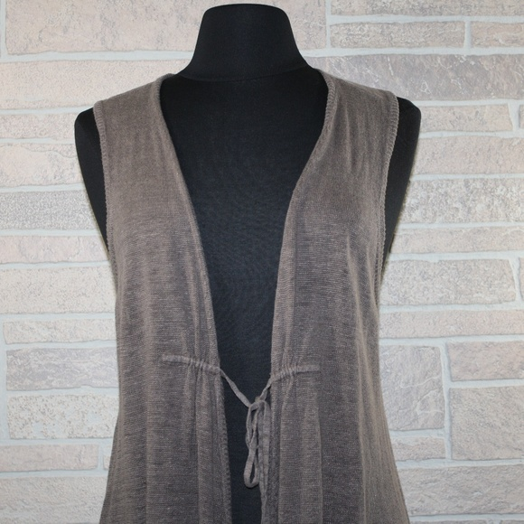 77% off Eileen Fisher Sweaters - Eileen Fisher Sleeveless Brown ...